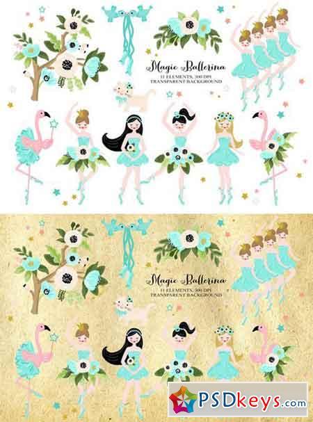 Magic Ballerina Dancer Clip art 2301268