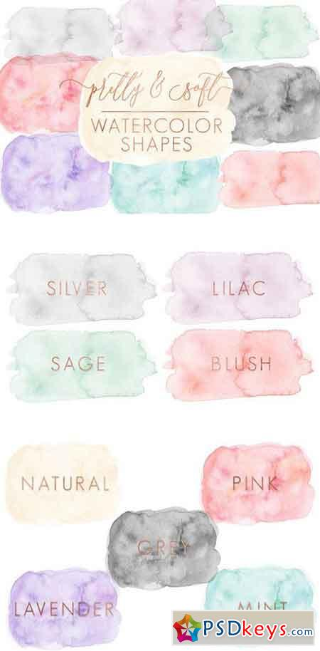Soft Watercolor Shapes Forms 1683586
