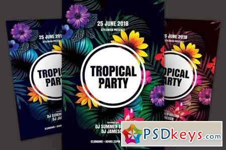 Tropical Party Flyer 2299371