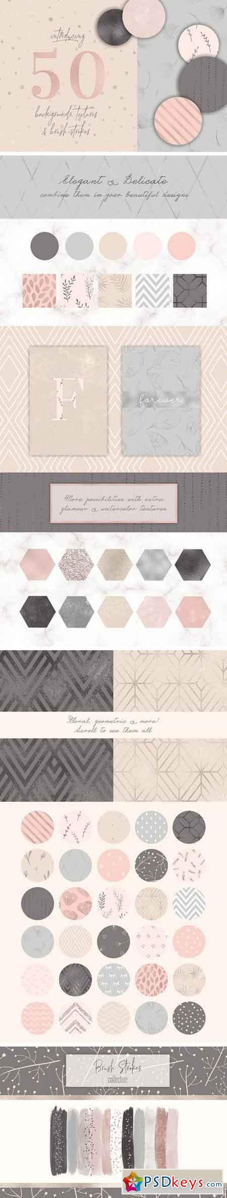 50 Delicate Backgrounds & Textures 2278732