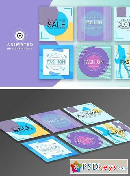 Animation Instagram story templates 2032748