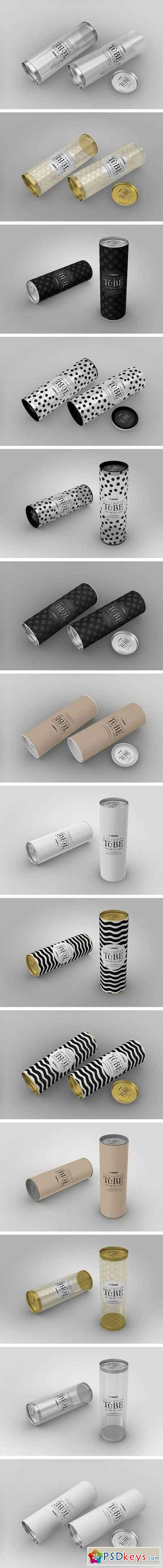 180mm Cylinder Tube Packaging Mock Up