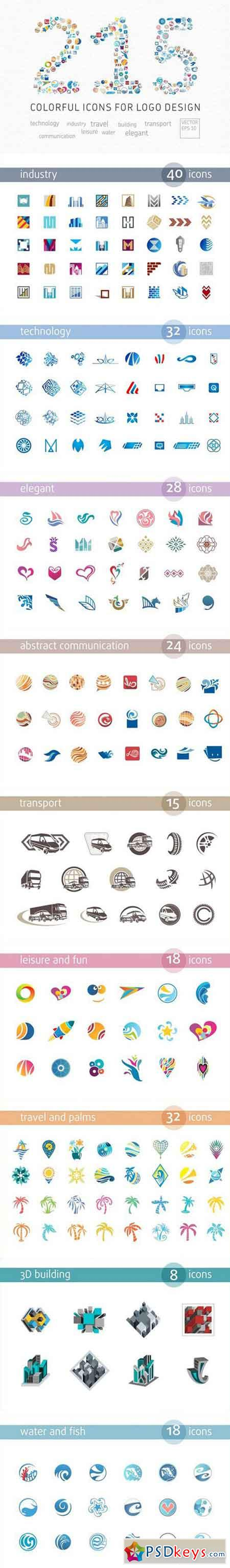 Vector Icons for Logo Design 2278656