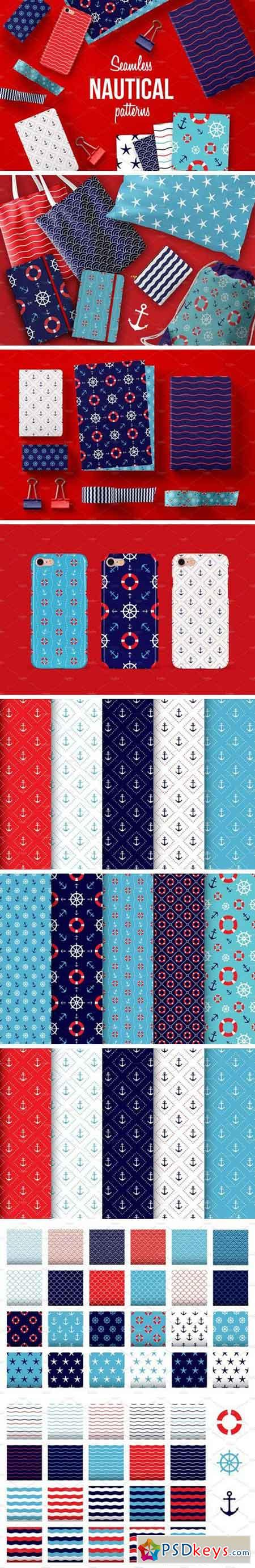 Seamless Nautical Pattern 2086175