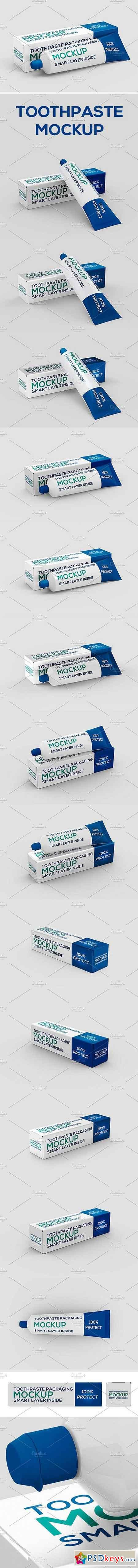 Toothpaste Packaging Mock-up 1617302