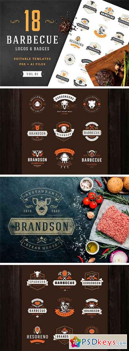 18 Barbecue Logos and Badges 2293824