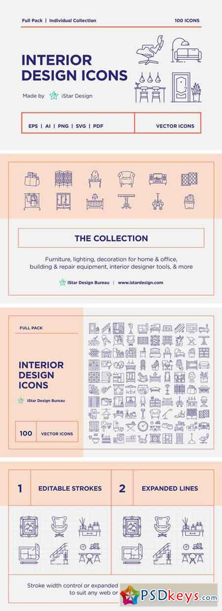 Interior Design Icons Set 2272243