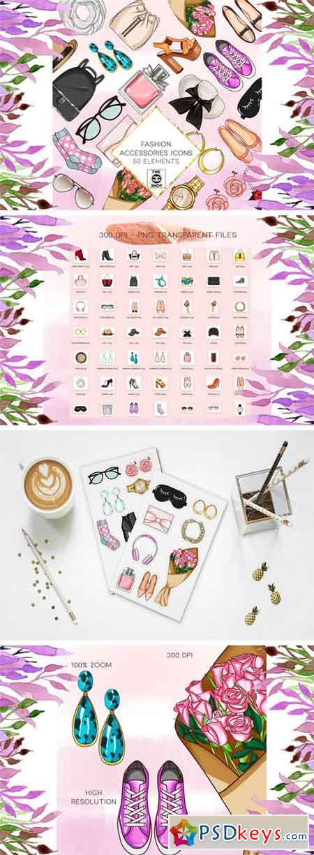 50 Png Fashion Accessories Icons