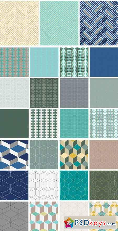 Seamless Geometric Patterns 2295836