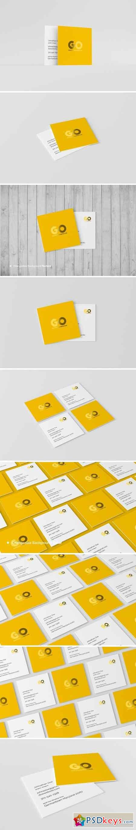 Square Business Card Mockup 1521706