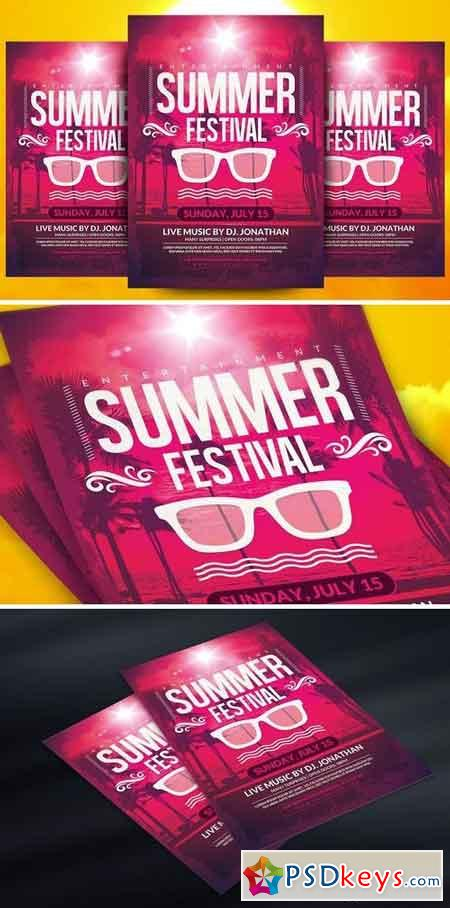 Summer Festival Flyer Template 1540294