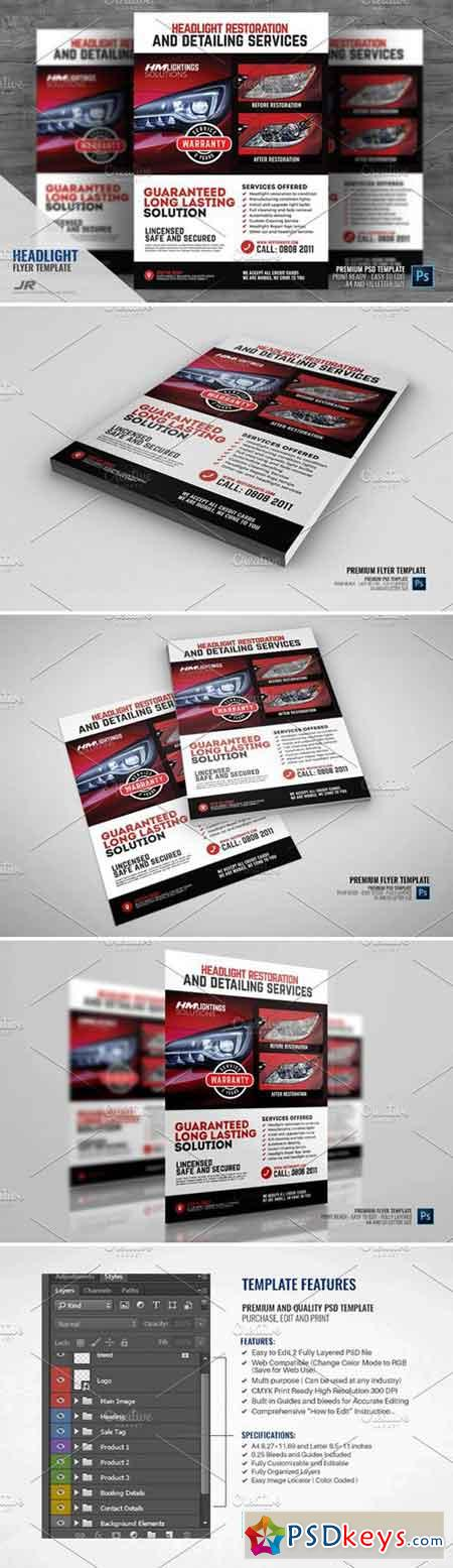 Headlight Restoration Service Flyer 2322593