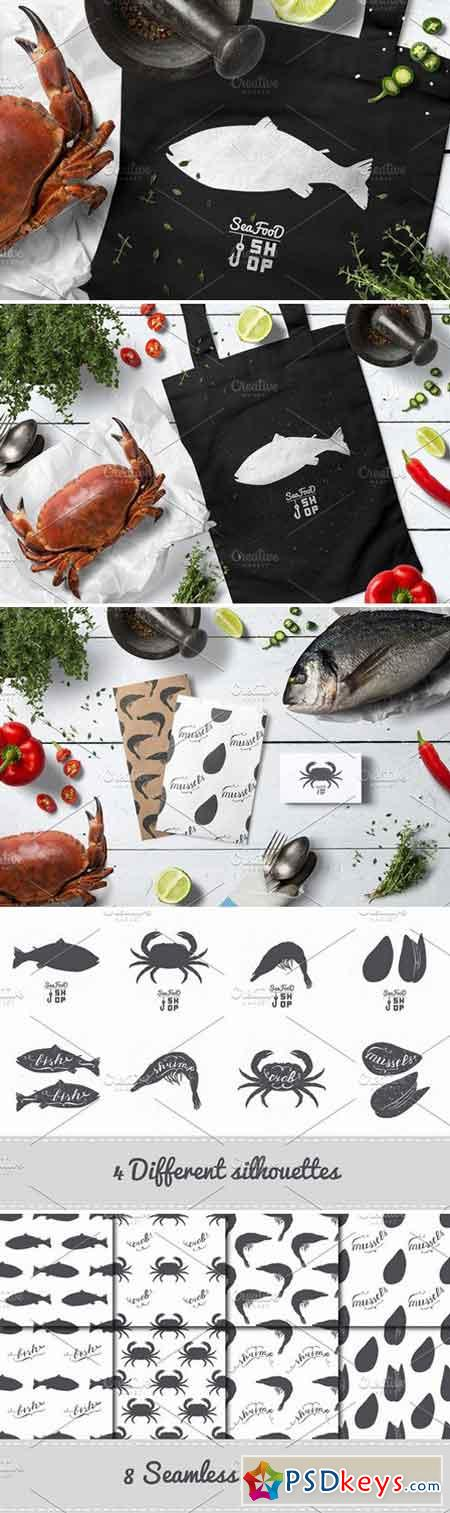 Seafood shop illustrations 2323269