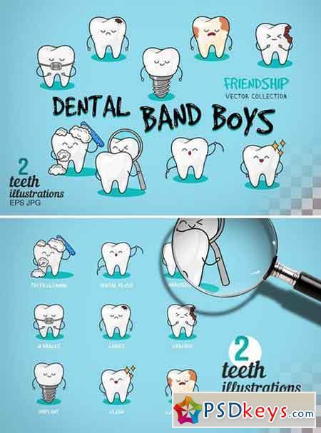 Happy teeth set Dental print 2323171