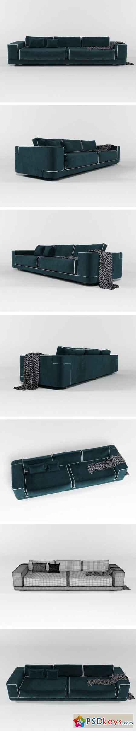 FENDI Velvet sofa 2000303