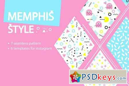 MEMPHIS STYLE templates and patterns 2092863