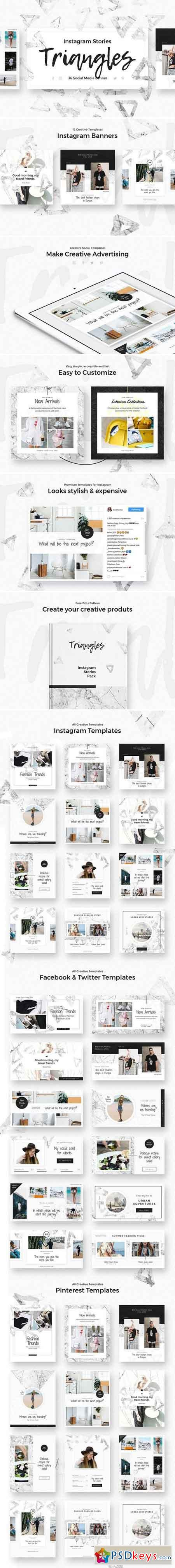 Triangles - Instagram Stories Pack 1939187