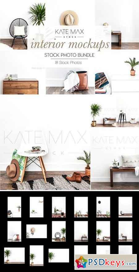 Interior Mockups Stock Photo Bundle 2323546