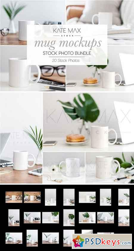 Mug Mockups Stock Photo Bundle 2323551