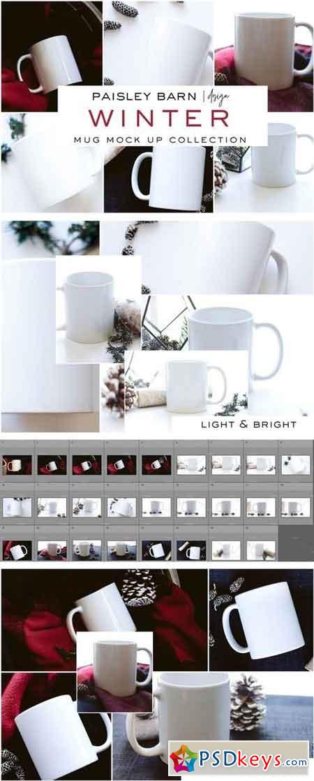 Winter Mug Mock Up Collection 2031368