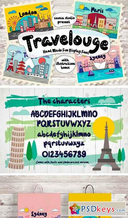 Travelogue Hand Made Typeface 2315557