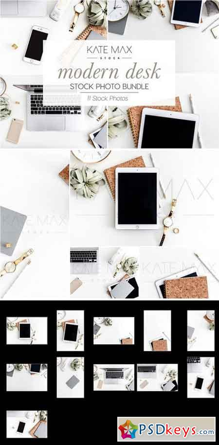Modern Desk Stock Photo Bundle 2323418
