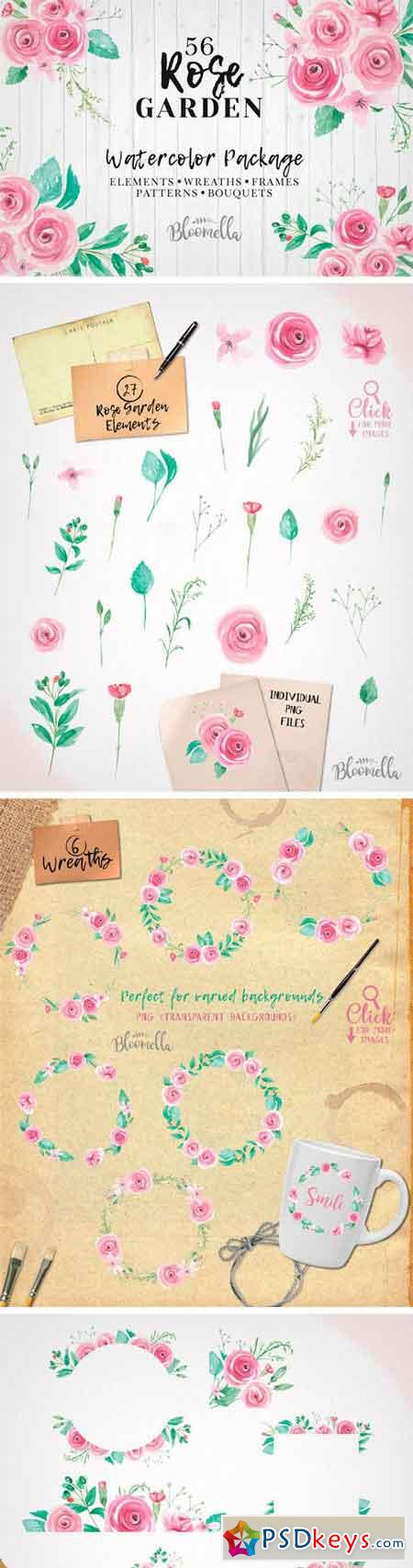 Watercolor Rose Wedding Clipart 2316984
