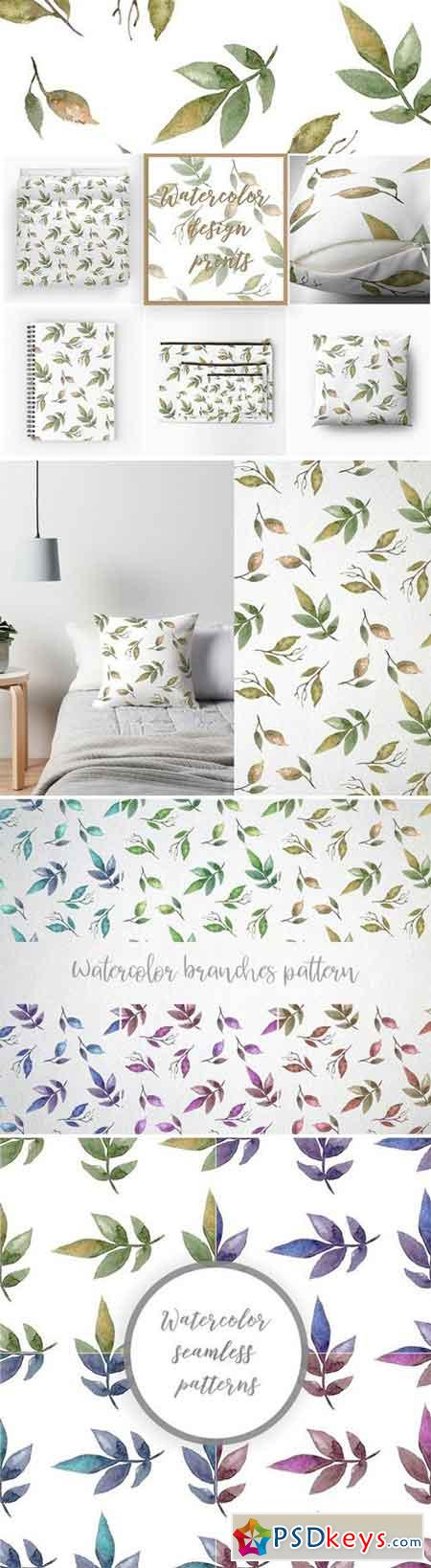 Watercolor branches pattern 2320238