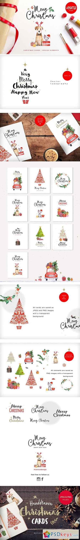 Merry christmas & happy new year set 1068453