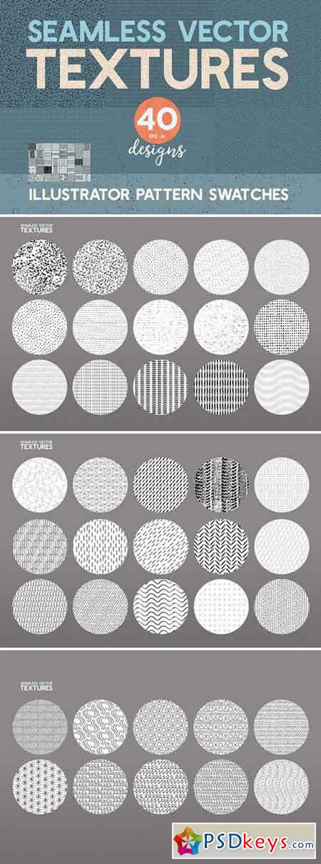 40 Seamless Vector Pattern Textures 2322061