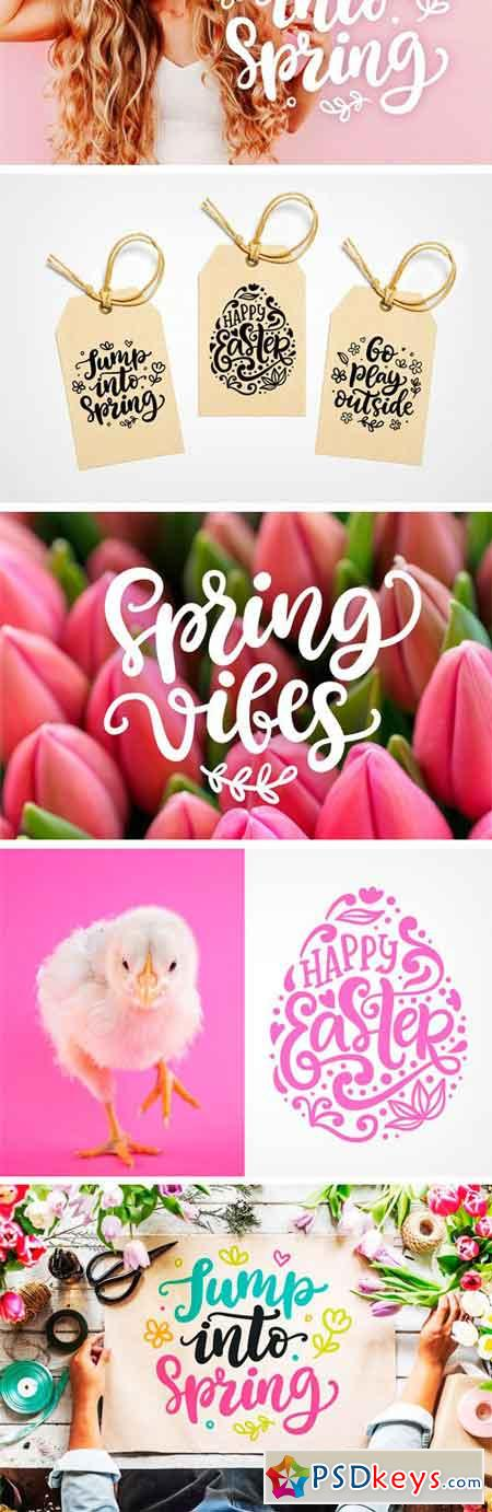 Spring Easter Overlays Bundle 2316684