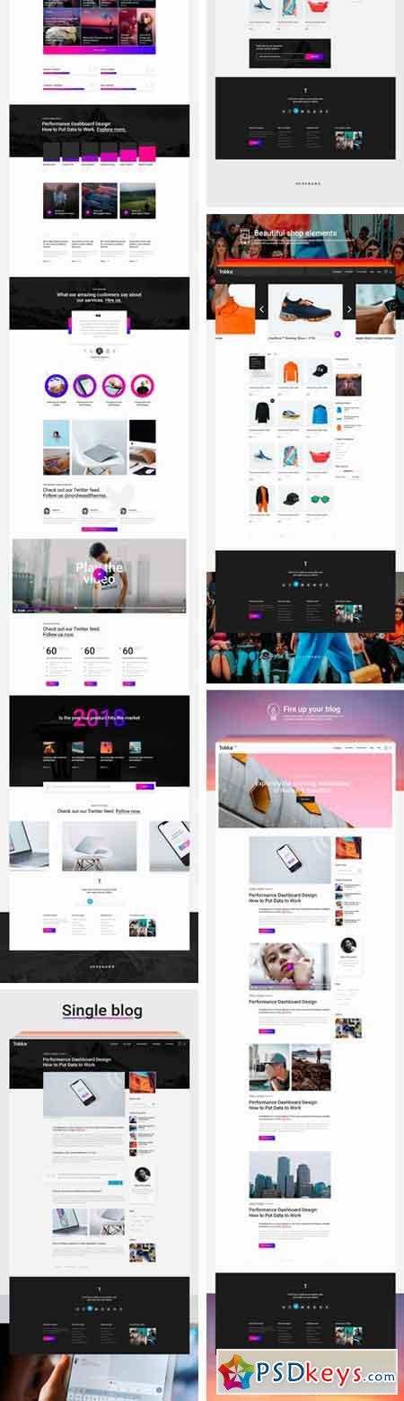 TOKKA Multi-Purpose UI UX Kit 2268341