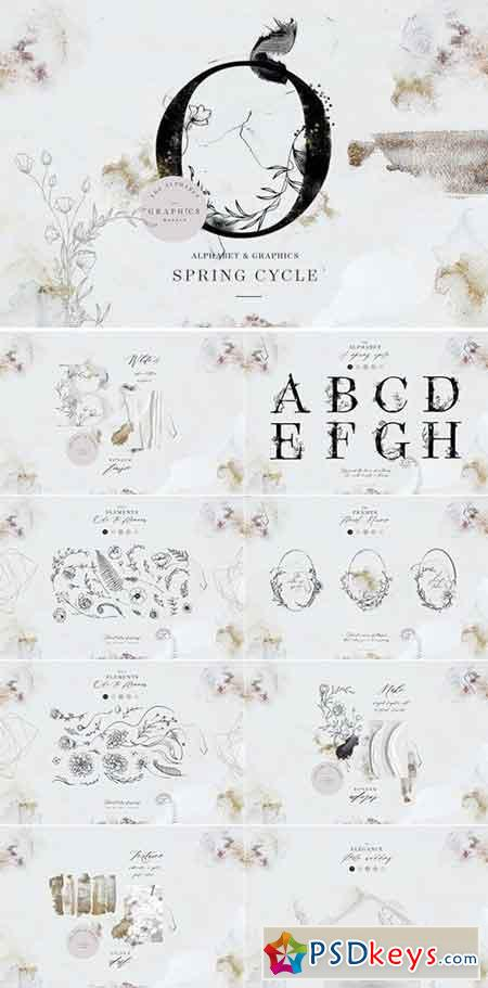 Spring Cycle Alphabet & Graphics 2286824
