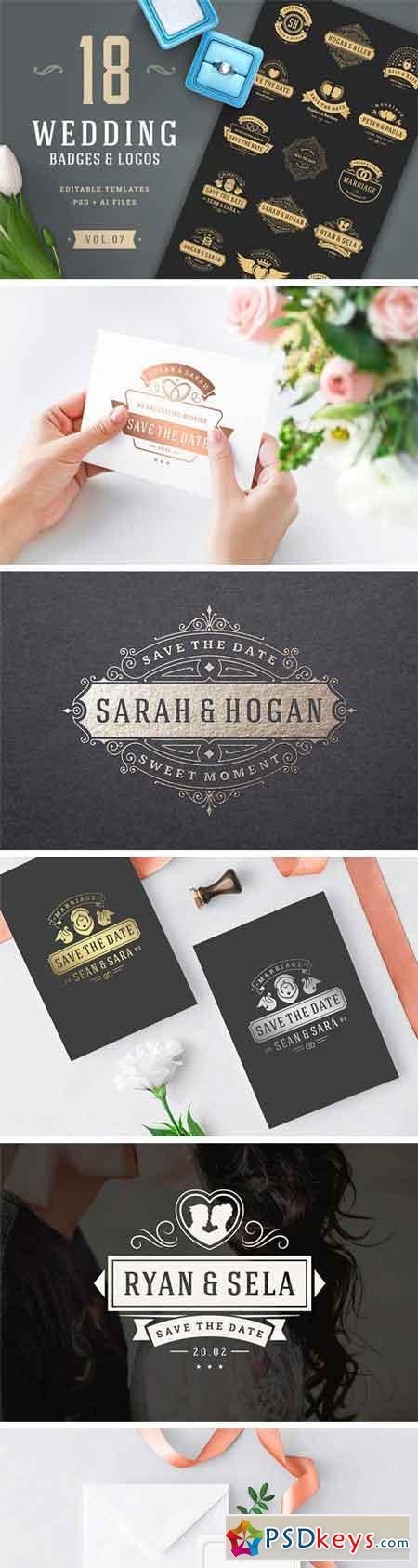 18 Wedding Logos and Badges 2202089 » Free Download