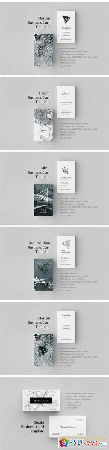 Marble Business Cards Part I 2293820