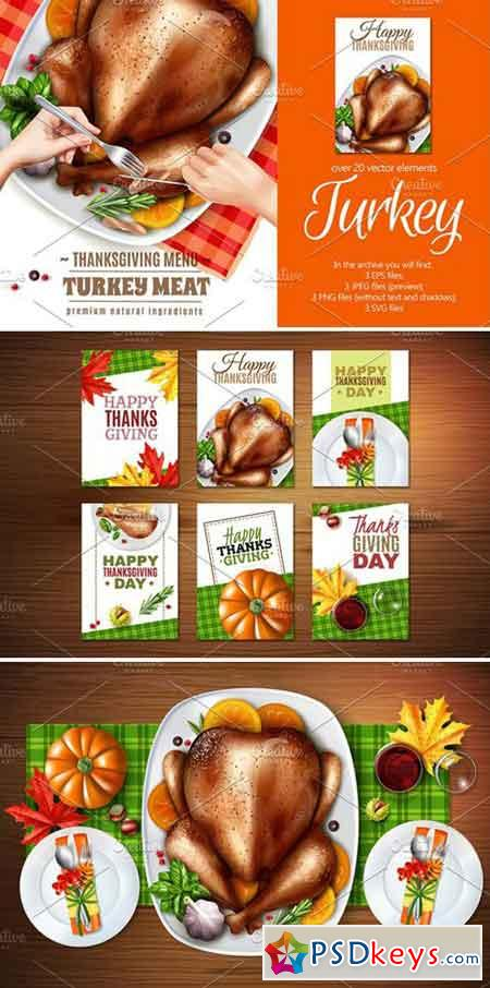 ThanksGiving Turkey Set 2321373