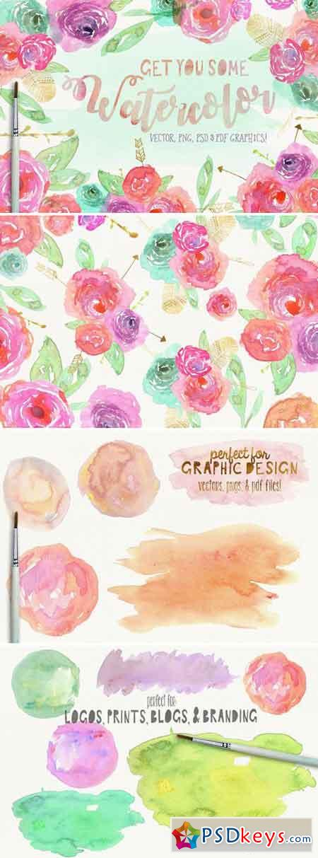 Watercolor Floral Clipart 1595818 Updated