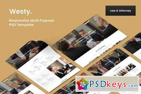 Westy Lawyer & Attorney PSD Template