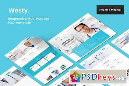 Westy Health & medical PSD Template