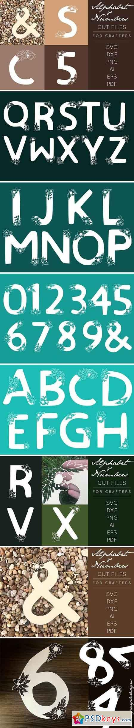 Alphabet Cut Files DXF SVG EPS 1554229
