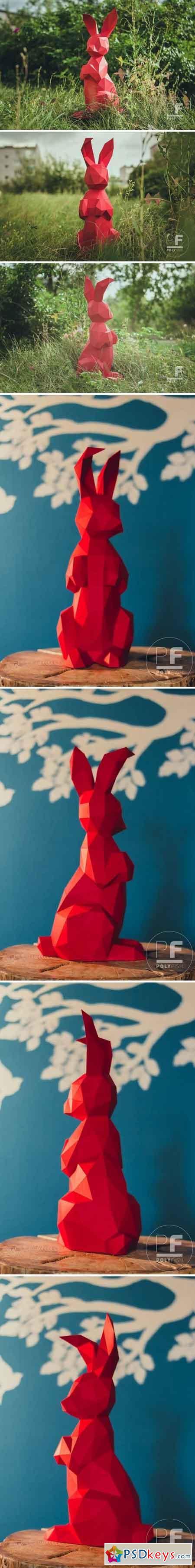 DIY Bunny 3D model template 1999721