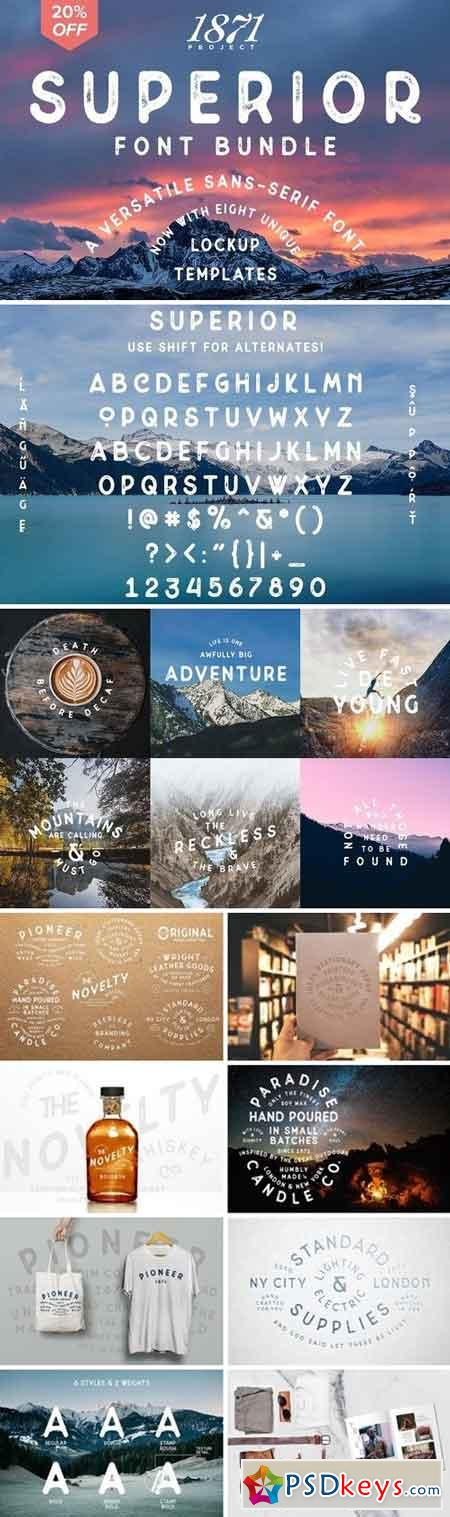 Superior Font Bundle 827612