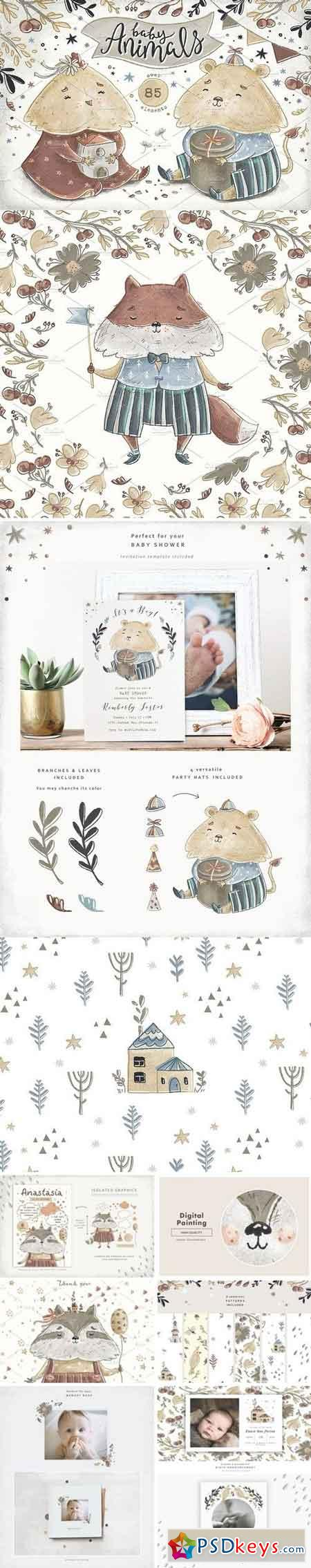 Baby Animals Nursery Art 1521925