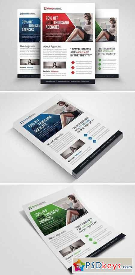 Corporate Business Flyer Template 1522758