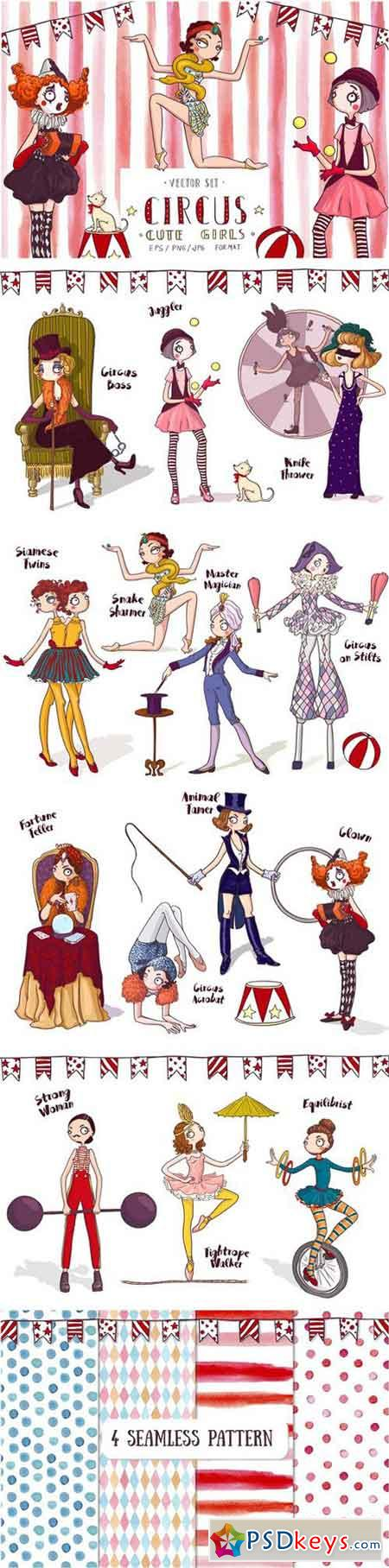 Circus Cute Girls Collection 1597235