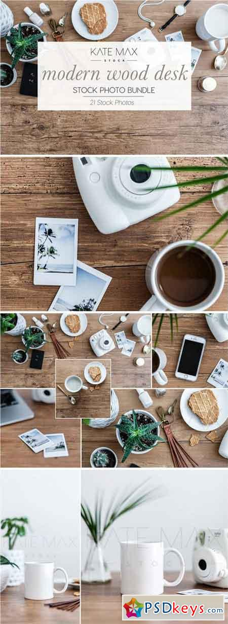 Modern Wood Desk Stock Photo Bundle 2323338