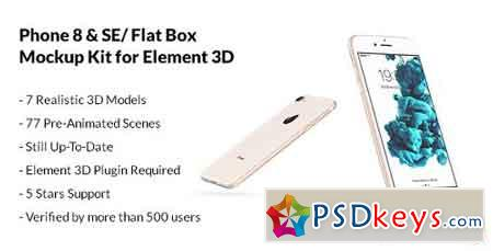 Phone 7 & SE Flat Box - Mockup Kit V2.1 6638840 - After Effects Projects