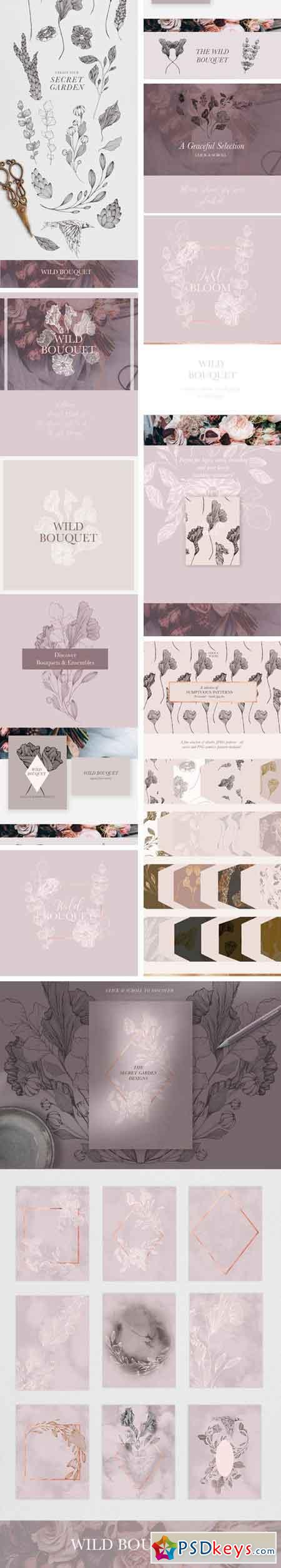 Wild Bouquet Wedding Illustrations 2270011