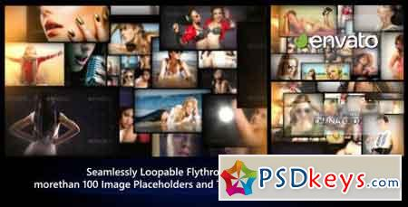 Photos Galaxy - Loopable Flythrough Animation 8192453 - After Effects Projects