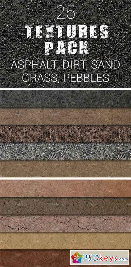 25 Textures Pack Asphalt and More 2271534